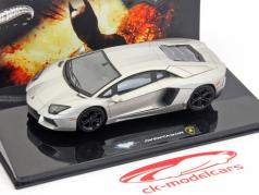 Lamborghini Aventador The Dark Knight Rises argent métallique HotWheels 1:43 Elite