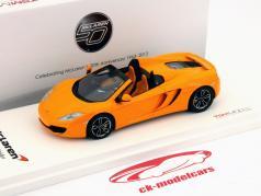 McLaren MP4-12C Aranha LHD Ano 2012 laranja 1:43 TrueScale
