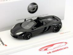 McLaren MP4-12C Spider LHD Ano 2012 carboxílico preto 1:43 TrueScale