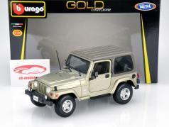Jeep Wrangler Sahara cinza / marrom 1:18 Bburago