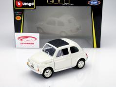 Fiat 500 F Year 1965 white 1:18 Bburago