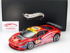 Ferrari 458 Italia GT2 #61 24h LeMans 2012 1:18 HotWheels Elite