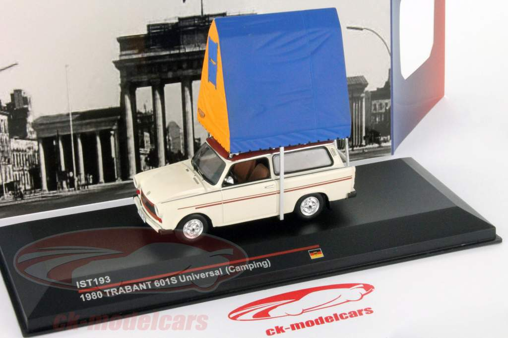 Trabant 601S Universal camping year 1980 creamy white 1:43 IST-Models