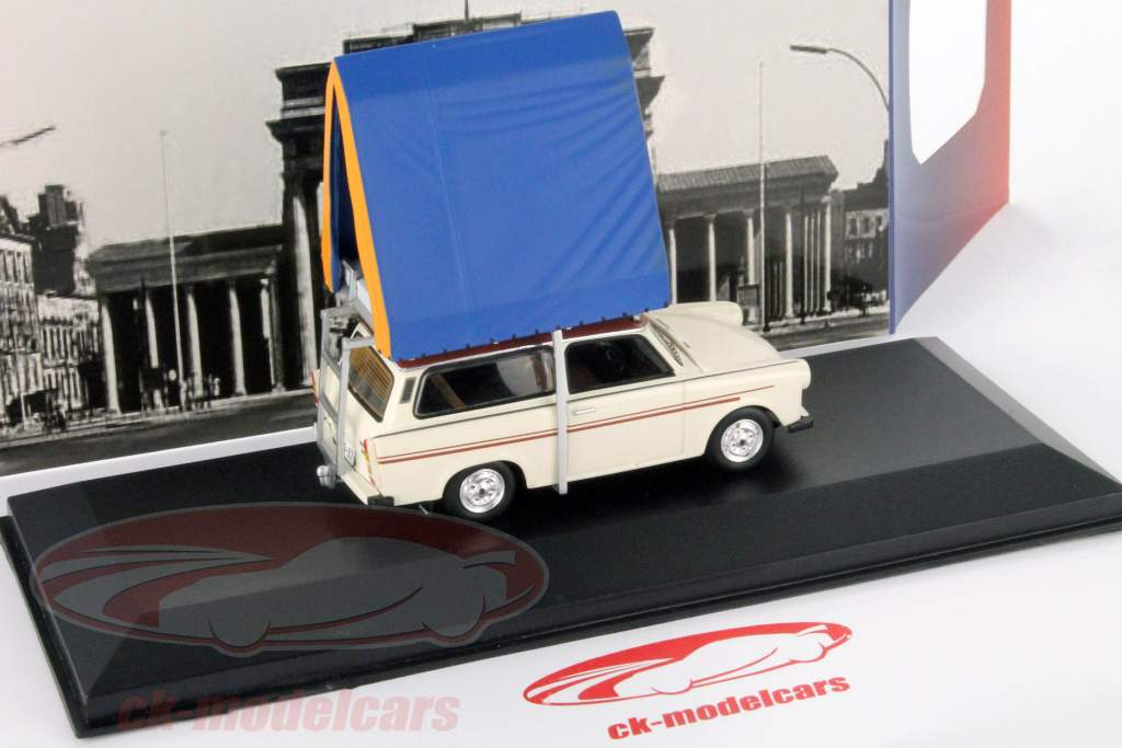 Trabant 601S Universal acampamento ano 1980 cremoso Branco 1:43 IST-Models