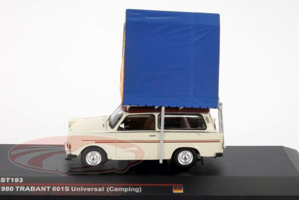 Trabant 601S Universal campeggio anno 1980 cremoso bianca 1:43 IST-Models