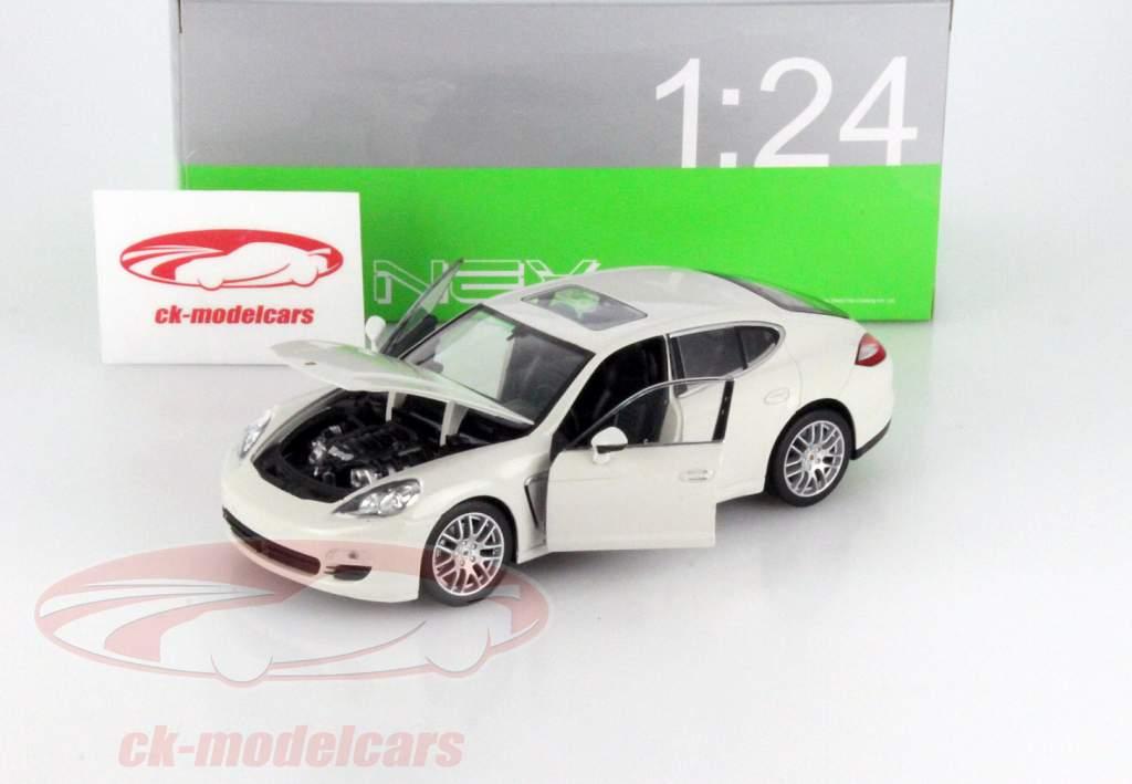 Porsche Panamera S Year 2009 white 1:24 Welly