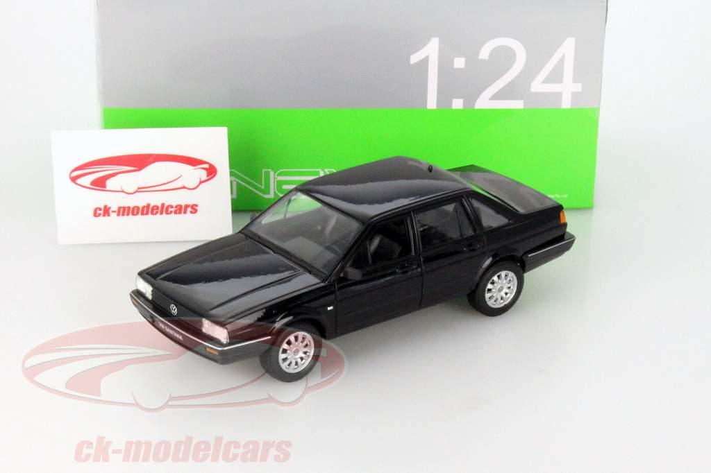 Volkswagen VW Santana noir 1:24 Welly