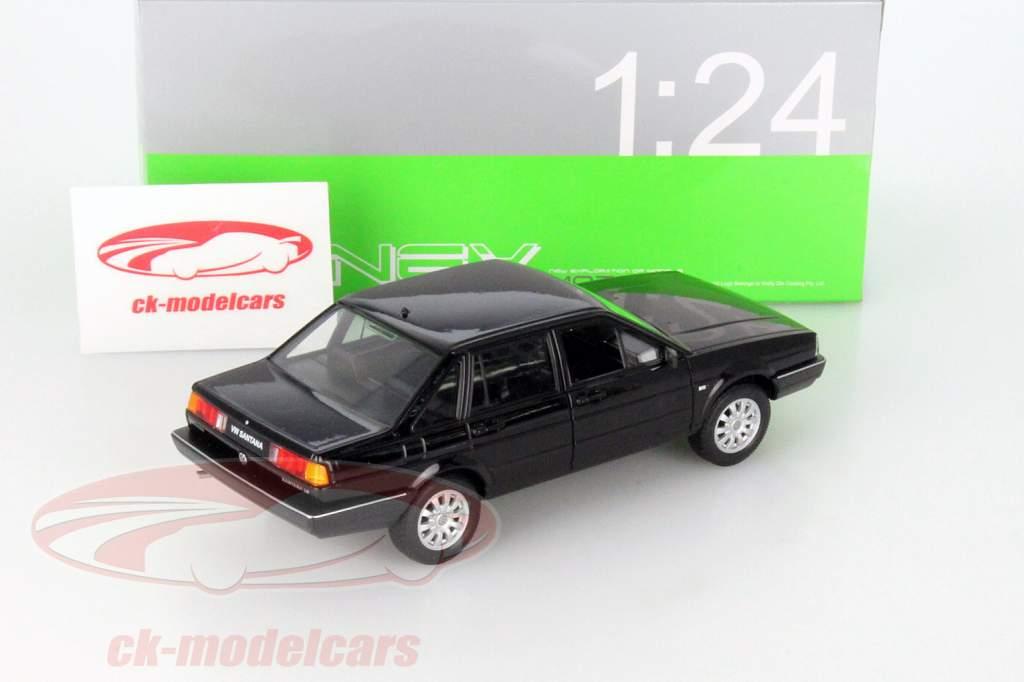 Volkswagen VW Santana negro 1:24 Welly