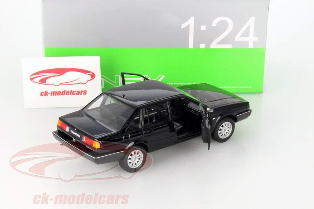 Volkswagen VW Santana zwart 1:24 Welly