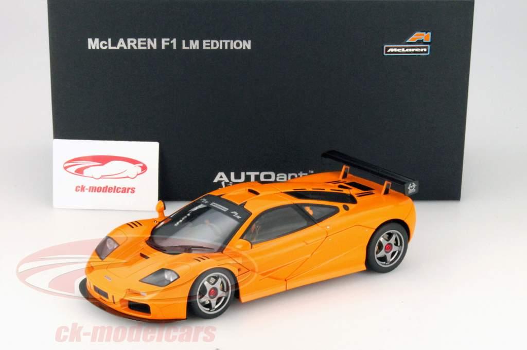 autoart 1:18 mclaren f1 lm edition baujahr 1995 orange 76011