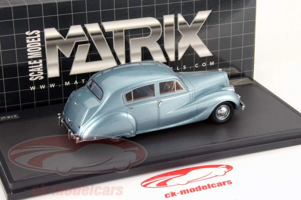 Austin A135 Princess II Jaar 1950 blauw metalen 1:43 Matrix