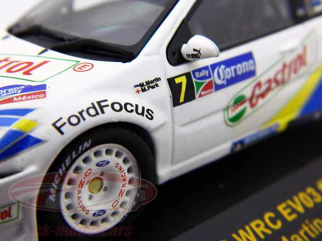 Ford Focus RS WRC #7 EV03 Messico Rally 2004 1:43 Ixo