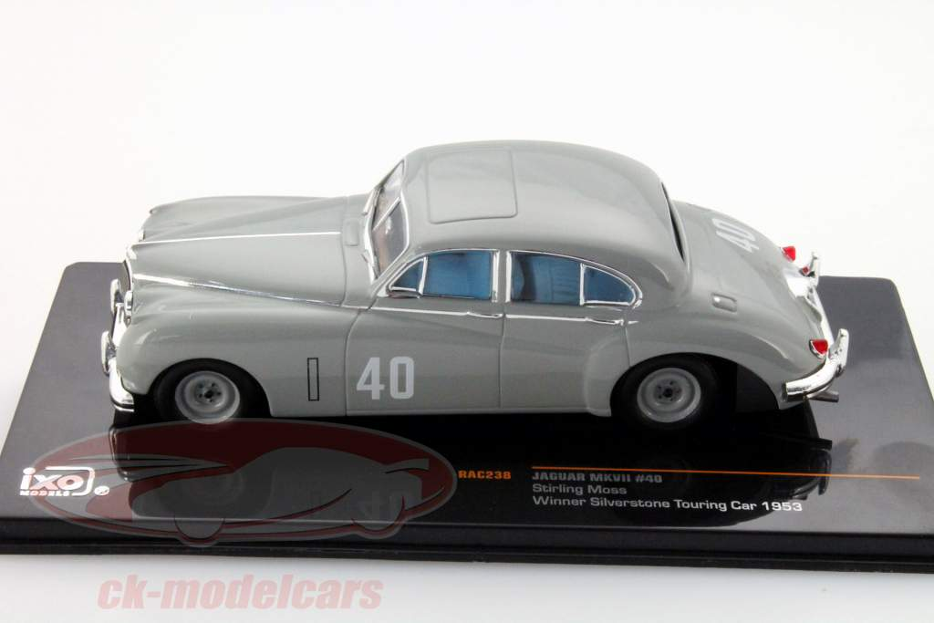 Stirling Moss Jaguar MKVII #40 Winnaar Silverstone Touring Car 1953 1:43 Ixo