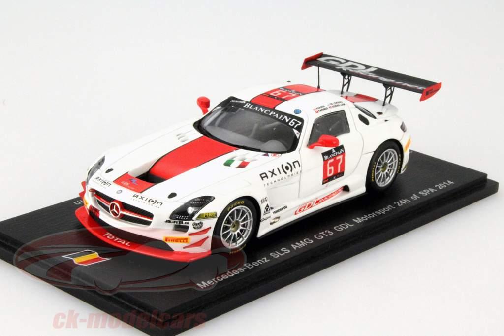 Mercedes-Benz SLS AMG GT3 GDL Racing #67 24h Spa 2014 1:43 Spark