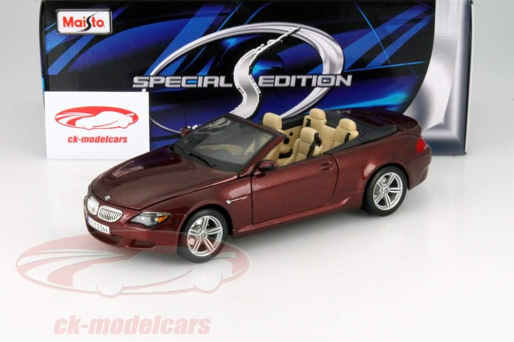 Bmw M6 Cabriolet Red Metallic 1 18 Maisto