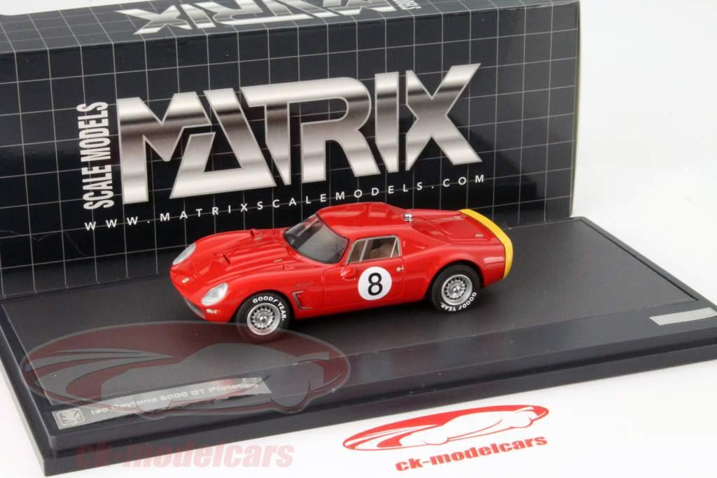 Iso Daytona 6000 GT Prototipo #8 Année 1965 rouge 1:43 Matrix