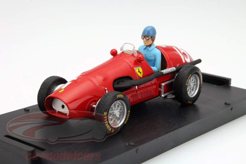 A. Ascari Ferrari 500F2 #15 verdensmester GP Great Britain F1 1952 1:43 Brumm