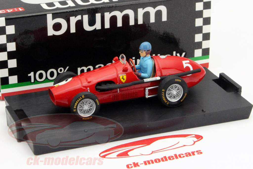A. Ascari Ferrari 500F2 #5 World Champion GP Großbritannien F1 1953 1:43 Brumm