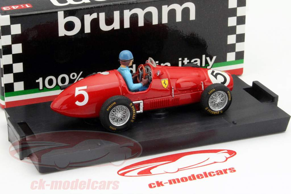A. Ascari Ferrari 500F2 #5 verdensmester GP Great Britain F1 1953 1:43 Brumm