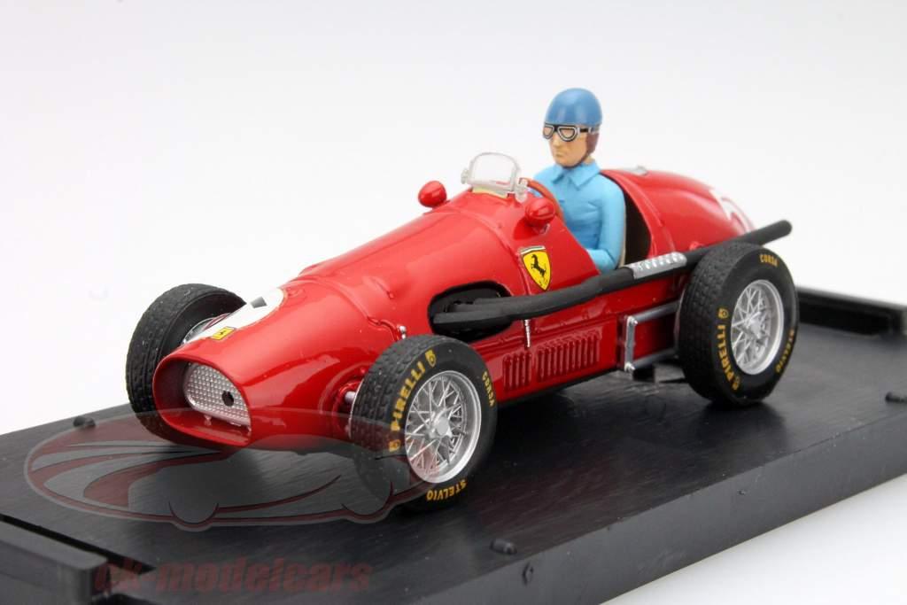 A. Ascari Ferrari 500F2 #5 Champion Du Monde GP Grande Bretagne F1 1952 1:43 Brumm