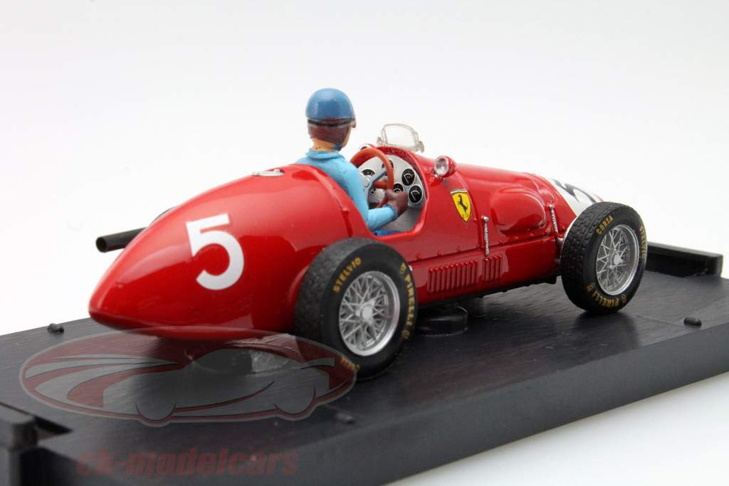 A. Ascari Ferrari 500F2 #5 Campeão do Mundo de F1 GP Grã-Bretanha 1953 1:43 Brumm
