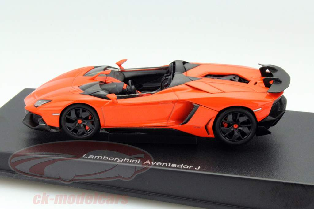 Lamborghini Aventador J Roadster Année 2012 Orange / noir 1:43 AUTOart