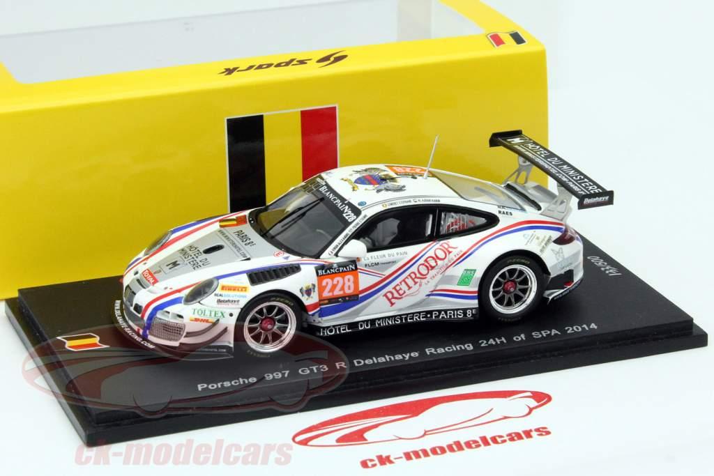 Porsche 911 997 Gt3 R 228 24h Spa 2014 Delahaye Racing 1 43 Spark