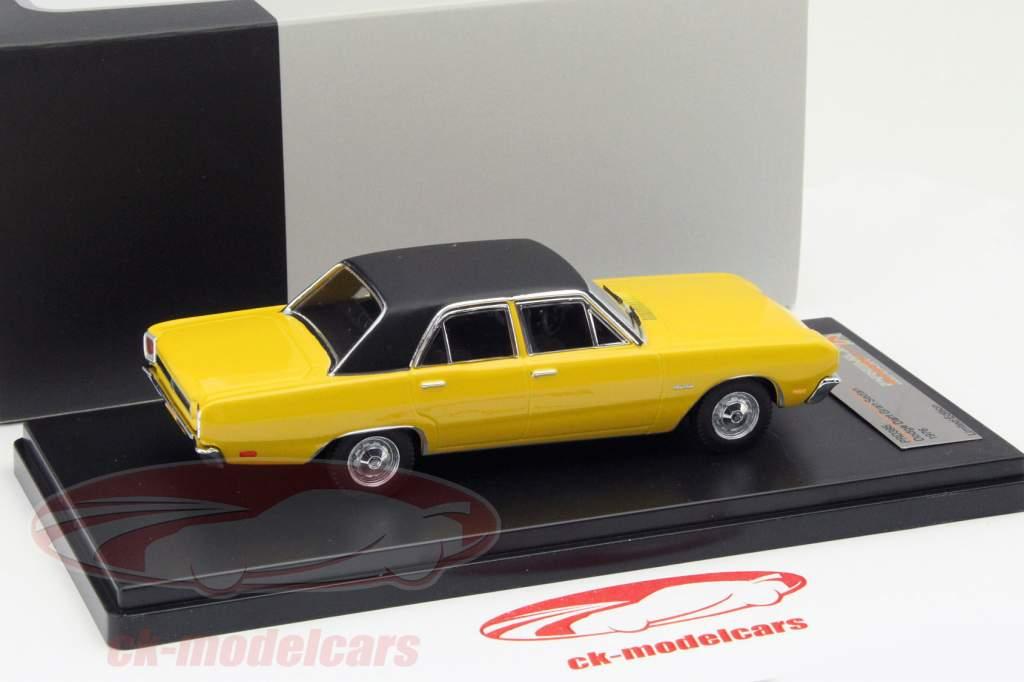 Dodge Dart Gran Sedan Jaar 1976 geel 1:43 Premium X