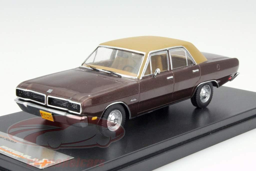 Dodge Dart Gran Sedan Jaar 1976 bruin 1:43 Premium X