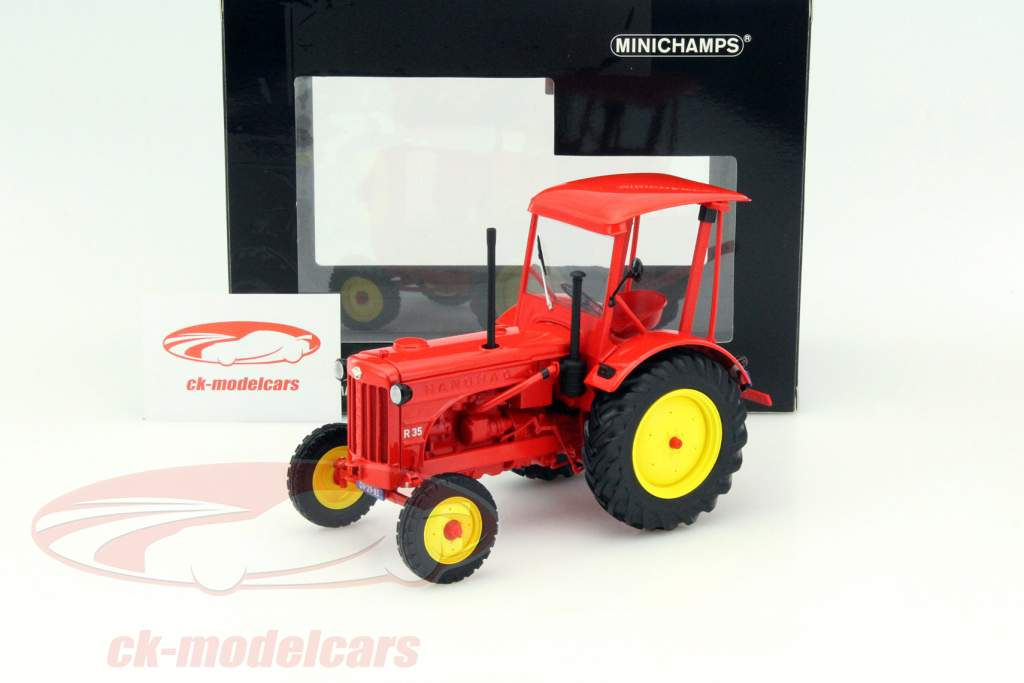 Hanomag R35 tractor year 1953 red 1:18 Minichamps