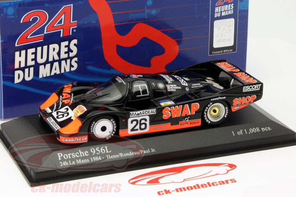 Porsche 956L #26 2e 24h LeMans 1984 Rondeau, Paul jr. 1:43 Minichamps