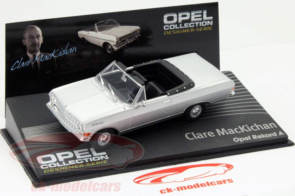 Opel Rekord A Clare MacKichan zilver 1:43 Altaya