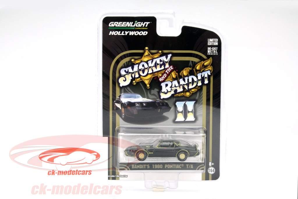 Pontiac Trans Am Film Smokey and the Bandit II 1980 black / gold 1:64 Greenlight