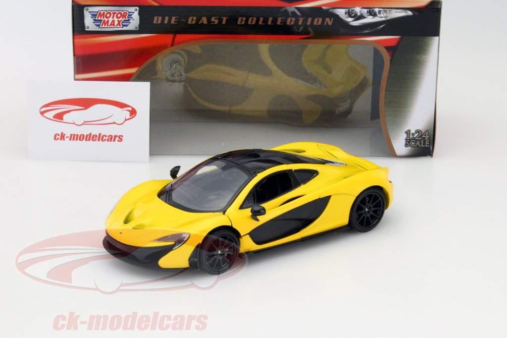 McLaren P1 amarelo 1:24 MotorMax