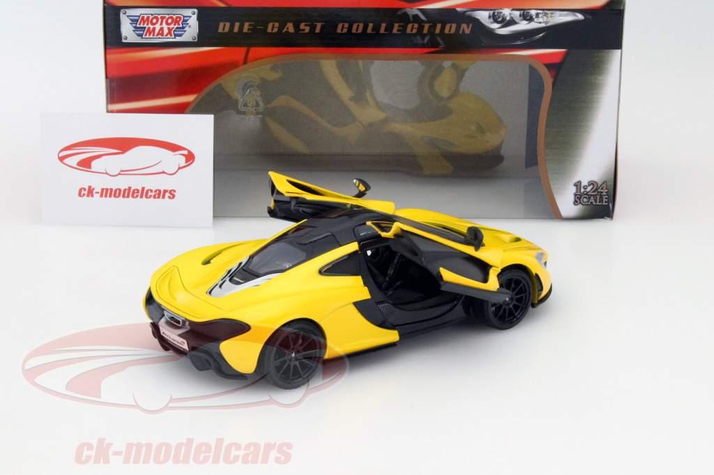 McLaren P1 yellow 1:24 MotorMax