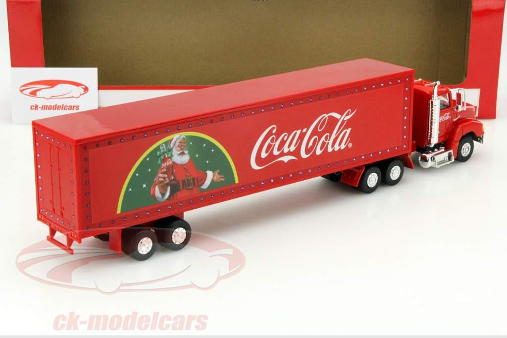 Julen Truck Coca-Cola med LED-lys rød 1:43 Motorcity