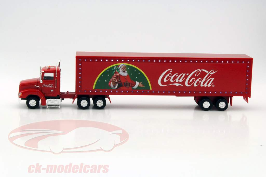 Weihnachtstruck Coca-Cola mit LED-Lichtern rot 1:43 Motorcity