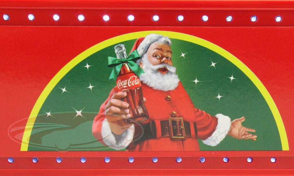 Caminhão de Natal Coca-Cola com Luzes LED vermelho 1:43 Motorcity