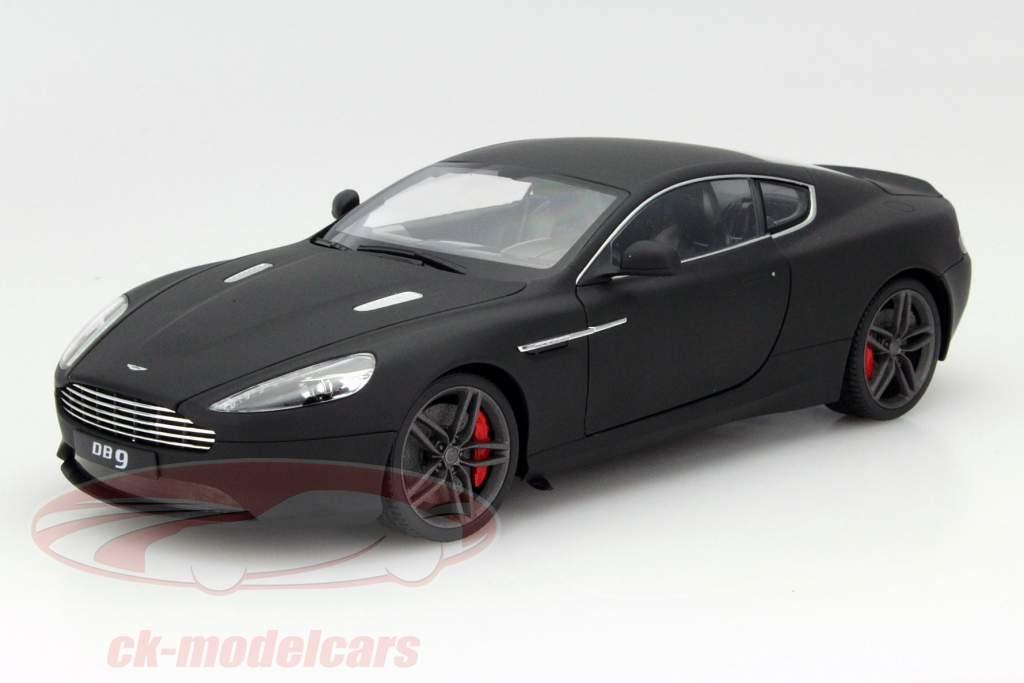 Aston Martin DB9 Coupe 2010 matt schwarz Modellauto 1:18 Welly