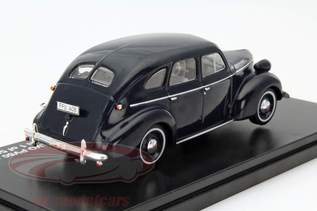 Volvo PV60 Année 1947 bleu foncé 1:43 Triple 9