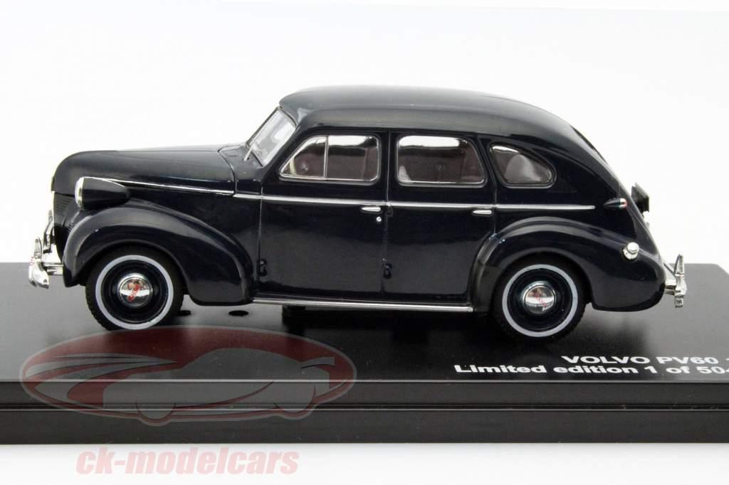 Volvo PV60 Ano 1947 azul escuro 1:43 Triple 9