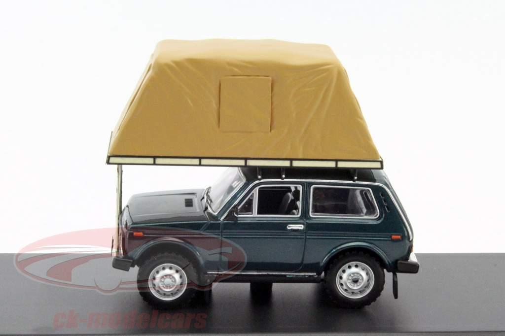 Lada Niva avec Rooftent année 1981 vert 1:43 Ixo IST