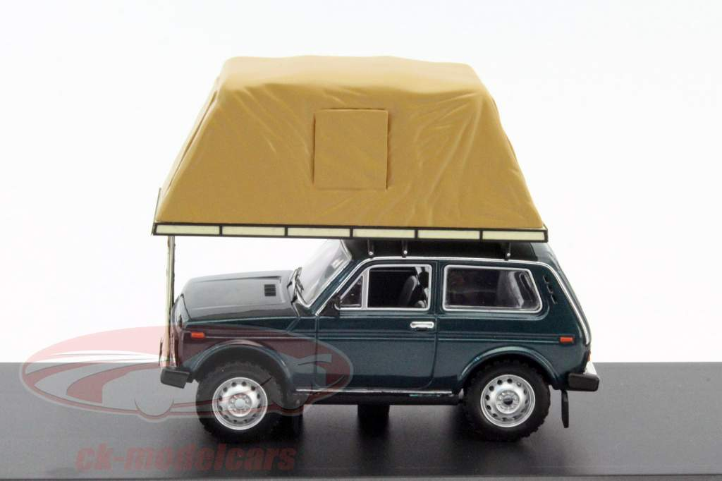 Lada Niva With Rooftent Year 1981 green 1:43 Ixo IST
