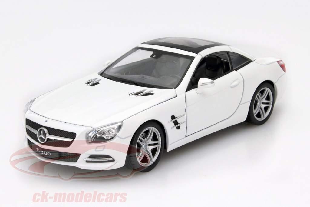 Mercedes-Benz SL 500 año 2012 blanco 1:24 Welly