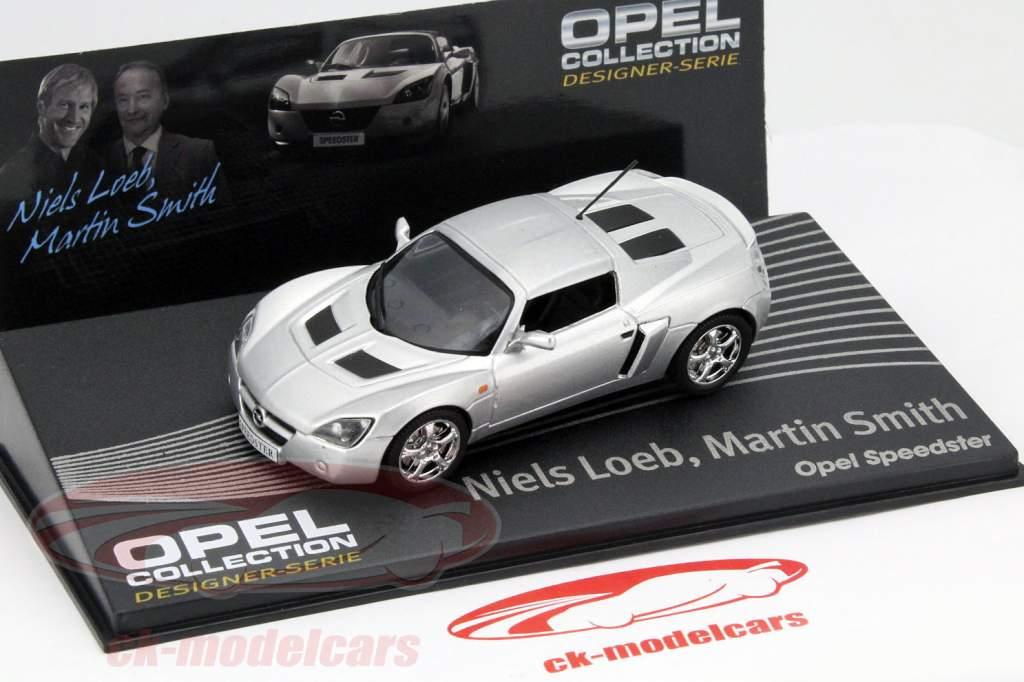 Opel Speedster sølv Niels Loeb, Martin Smith 1:43 Altaya