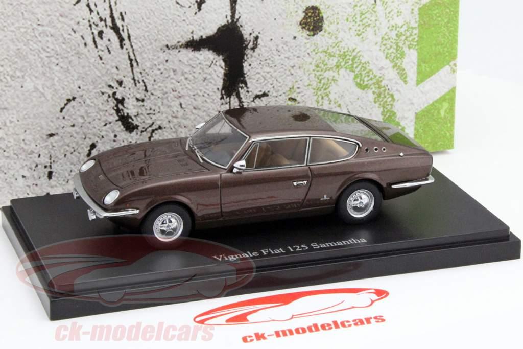 Vignale Fiat 125 Samantha jaar 1967 bruin 1:43 AutoCult