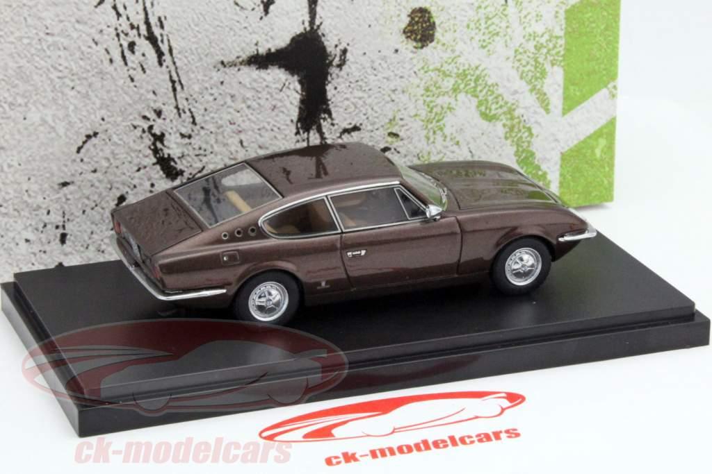 Vignale Fiat 125 Samantha anno 1967 marrone 1:43 AutoCult
