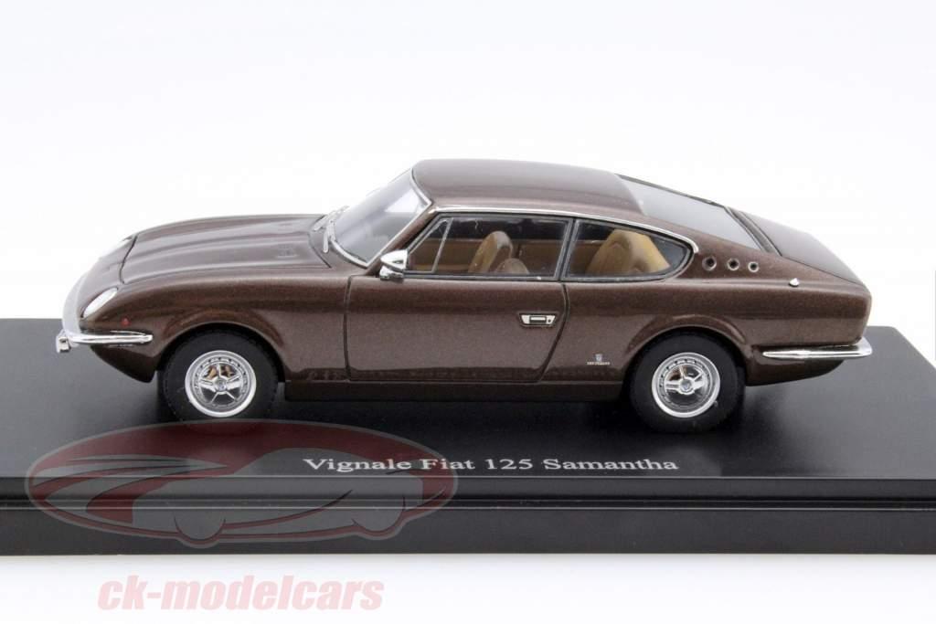 Vignale Fiat 125 Samantha ano 1967 marrom 1:43 AutoCult