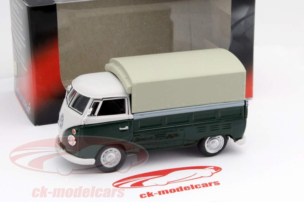 Volkswagen VW T1 Pick Up Med Planer grøn / beige 1:43 Cararama