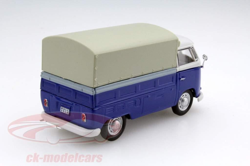 Volkswagen VW T1 Pick Up blå 1:43 Cararama